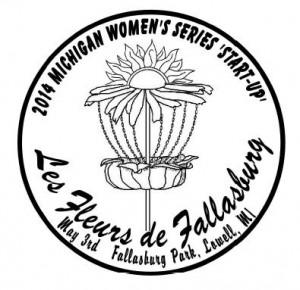 2014 Michigan Women's Disc Golf Series 'Start-Up' (MWS) - Les Fleurs de Fallasburg graphic