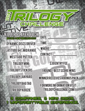 Trilogy Challenge Presented by Blowin Birdies Disc Golf Club graphic