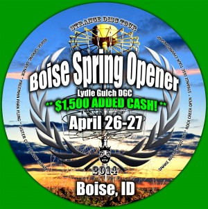 Boise Spring Opener - April 26-27 2014 PDGA B-Tier graphic