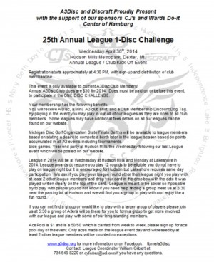 2014 1-disc challenge graphic