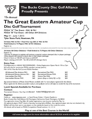 15th Annual Great Eastern Amateur Cup - A tier graphic