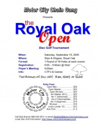 The 9th Annual Royal Oak Open graphic