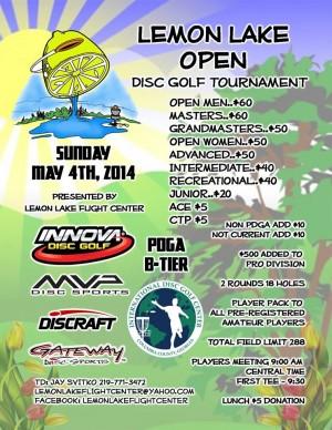 2014 Lemon Lake Open graphic