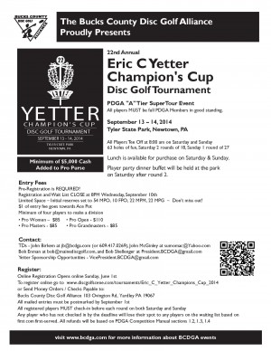 Eric C. Yetter Champions' Cup graphic