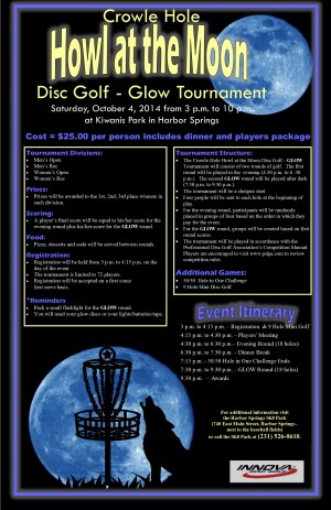 Crowle Hole Howl at the Moon Disc Golf-Glow Tournament graphic