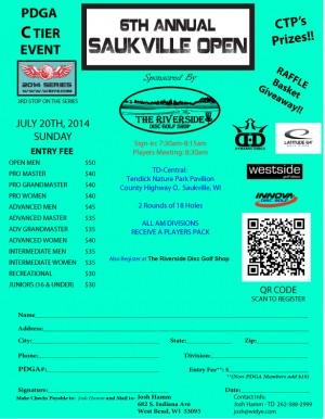 6th Annual Saukville Open graphic