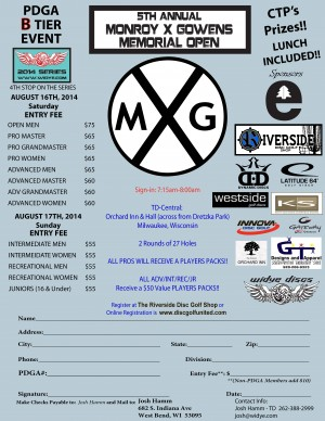 5th Annual Monroy X Gowens Memorial Open - Open,Pro,Adv Day graphic