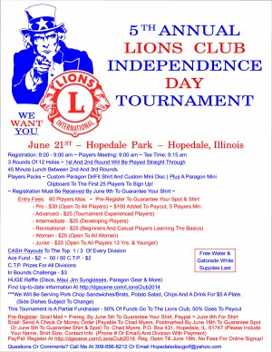 5th Annual Lions Club Independence Day Tournament graphic