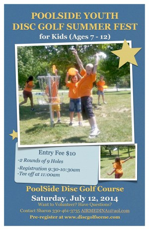 PoolSide Youth Disc Golf Summer Fest graphic