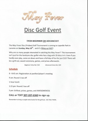 May Fever Disc Golf Tournament graphic