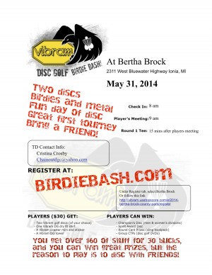 Bertha Brock Vibram Birdie Bash graphic