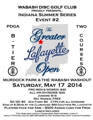 The 2014 Greater Lafayette Open graphic