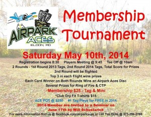 2014 Airpark Aces Membership Tournament graphic