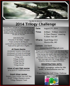 DragonFlight Disc Golf Trilogy Challenge graphic
