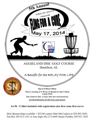 Wesley Smith Memorial Fling for a cure graphic