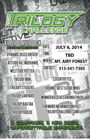Trilogy Challenge Hosted by The Nati Disc Golf graphic