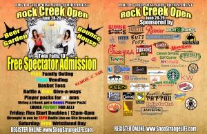 Rock Creek Open - Event #5 of 2014 Strange Disc Tour graphic