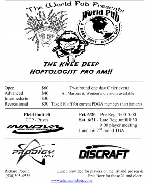 The Knee Deep Hoptologist Pro Am graphic