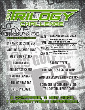 Trilogy Challenge, Hosted by Fountain City Flyerz graphic