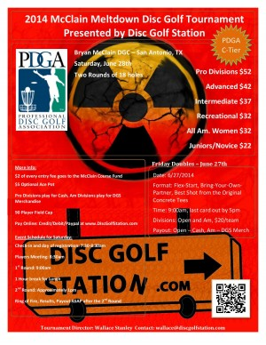 2014 McClain Meltdown presented by DiscGolfStation.com graphic