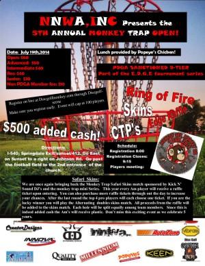 5th Annual NNWA's Monkey Trap Open graphic