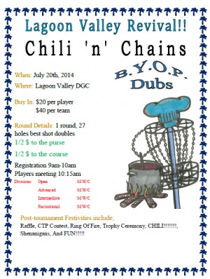 Chili 'n' Chains BYOP Fundraiser graphic