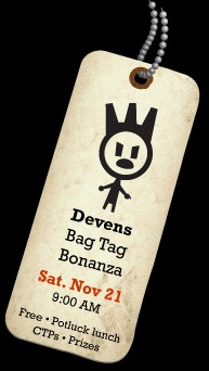 Devens Bag Tag Bonanza graphic