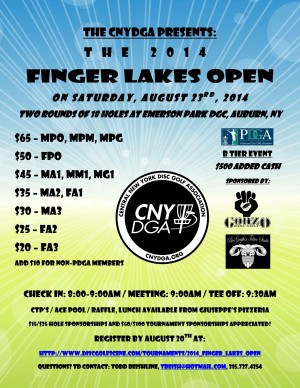 2014 Finger Lakes Open graphic
