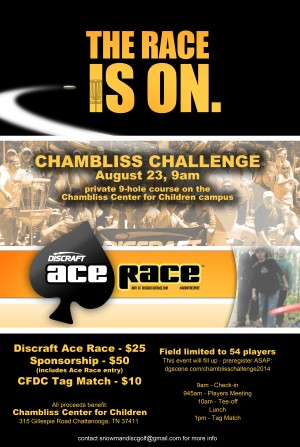 Chambliss Challenge 2014 - Discraft Ace Race graphic