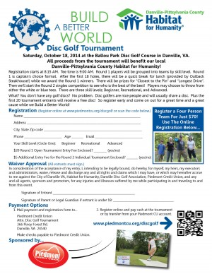 4th Annual Build A Better World Disc Golf Tournament graphic