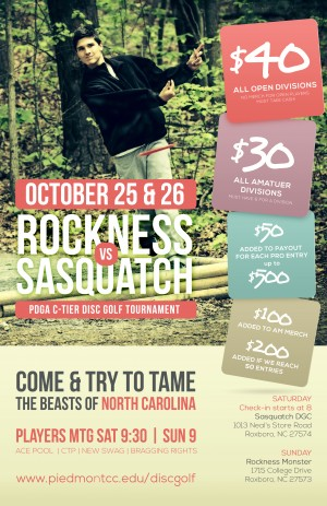 Rockness vs. Sasquatch graphic
