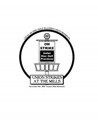 Union Strikes at Hudson Mills graphic