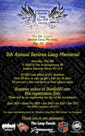 5th Annual Seviren Lang Memorial graphic