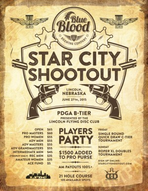 Blue Blood Brewing Company Star City Shootout Presented by Birdie30 Disc Golf graphic