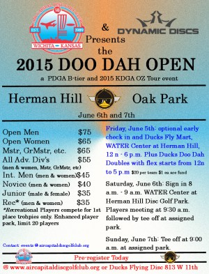 ACDGC-Dynamic Discs Presents 2015 Doo Dah Open graphic