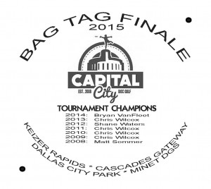 2015 CCDG Bag Tag Finale graphic