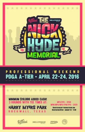 Nick Hyde Memorial - Pro Weekend graphic