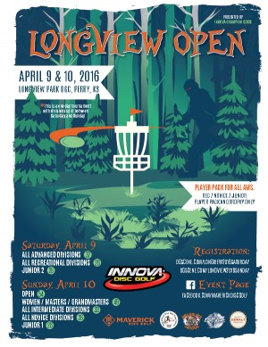 Longview Open Presented by Innova Champion Discs - Adv, Rec, Jr II graphic