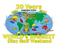 World's Biggest Disc Golf Weekend Warm Up graphic