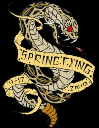 Spring Fling sponsered by DX disc golf graphic