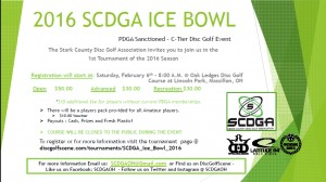 SCDGA Ice Bowl 2016 graphic
