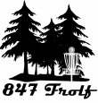 847 Frolf logo
