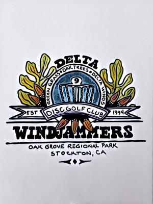 Delta Windjammers Disc Golf Club logo