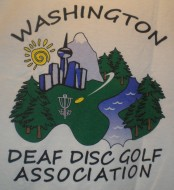 Washington Deaf Disc Golf Association logo