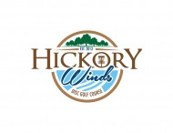 Hickory Winds Disc Golf logo