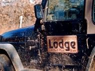 The Lodge Disc Golf logo