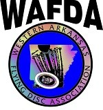 Western Arkansas Flying Disc Association (WAFDA) logo