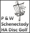 P&W Schenectady Disc Golf logo