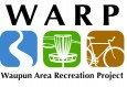 WARP Disc Golf Club logo