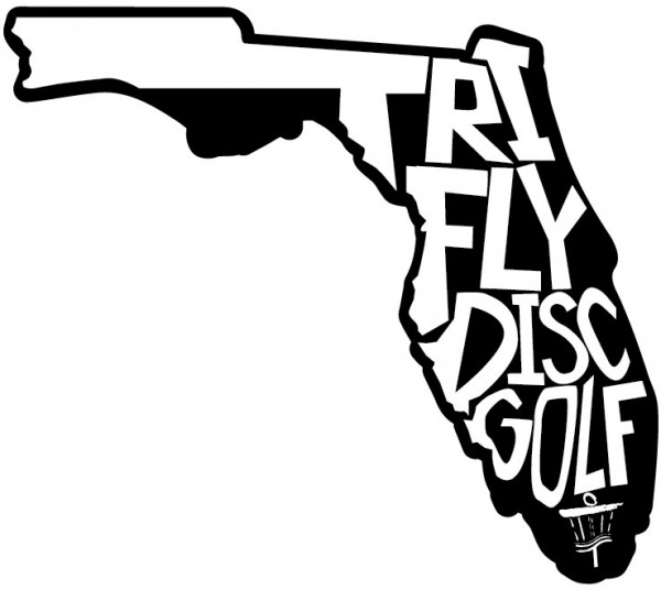 TRI-FLY Disc Golf logo